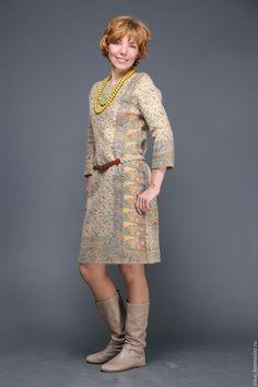 """Купить валяное платье """"Индия"""" - валяное платье, нунофелтинг, платье, платье коктейльное, нуновойлочное платье"""