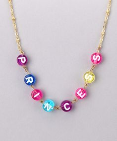 Take a look at this Gold 'Princess' Necklace by Lettie's Betties on #zulily today!