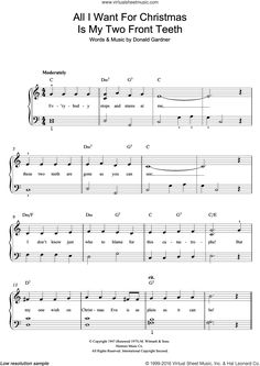 All i want for christmas piano sheet music pdf