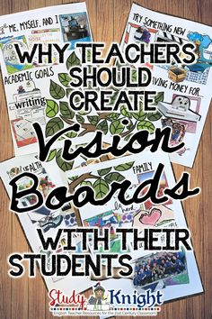 WHY TEACHERS SHOULD CREATE VISION BOARDS WITH THEIR STUDENTS | Vision boards are an amazing tool that helps keep you motivated and determined to make your future real. Teachers promoting a growth mindset will continue to encourage hard work and determination and the vision board supports the goals the student will strive for. | Grades 4, 5, 6, 7, 8, 9, 10, 11, 12, homeschool #visionboard #growthmindset