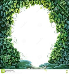 frame-text-decoration-enchanted-forest-green-ivy-moss-white-background-74872305.jpg (1300×1390)