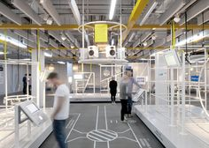 Google Web Lab by Universal Design Studio and MAP - a digital laboratory at London's Science Museum where visitors can interact with internet-users around the world using musical instruments and robots