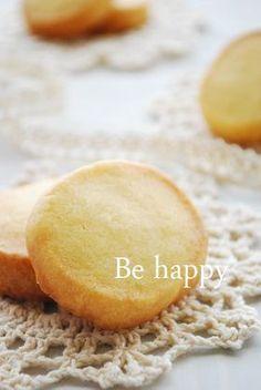 材料3つでさくさくクッキー。