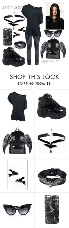 """Bats Gothic"" by angelique-von-tod ❤ liked on Polyvore featuring Rock Rebel, Iron Fist and Casetify"