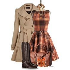 """""""Fall Into Plaid"""" by stylesbyjoey on Polyvore"""