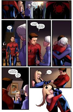 Annnnd one more Sara Pichelli page from Spider-Men.