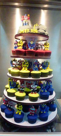 transformers cupcake tower