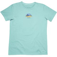 Life is Good T Shirts, clothing and accessories at Jakes Good Newport: Life is Good: WOMENS CRUSHER TEES: HAPPY HOUR SUNSET - TIDE BLUE T-Shirts, Hats, Gear, Tees, Shorts, Pants, Dog Products, Accessories, other Clothing