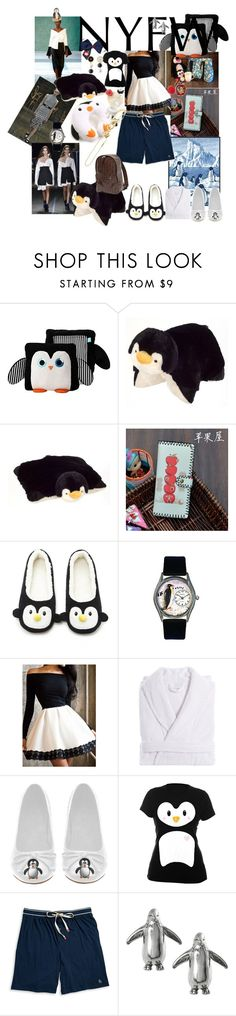 """""""penguin in NY!!"""" by lerp ❤ liked on Polyvore featuring Hellessy, Phelan, Monse, Pillow Pets, Jellycat, Forever 21, Linum Home Textiles, Goodie Two Sleeves, Original Penguin and Journee Collection"""