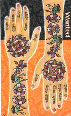Glimmering Mehendi Tattoos - Multicolor Set #04