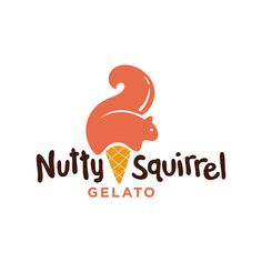It's so cute how the ice cream is shaped like a squirrel. The font also looks like chocolate Ice cream logo design inspiration: Nutty Squirrel Gelato Logo by Modern Dog Design Co. Clever Logo, Cool Logo, 2 Logo, Logo Branding, Corporate Branding, Ice Cream Logo, Logo Luxury, Gfx Design, Logos Ideas