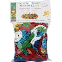 Harrisville Designs Cotton Loops by Harrisville Designs. $7.28. Available in multi colors. Harrisville is 100% Made in the USA. Loop colors may vary from lot to lot. Harrisville Products are designed to provide fun, challenging, educational experiences wile developing concentration, fine and gross motor control and spatial relationships and patterning.. Each bag makes 2 potholderss. Amazon.com                Don't let a lack of loops hold up potholder production. You can order r...