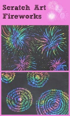 Scratch Paper Fireworks and Make your own Scratch Paper - Mum In The Madhouse scratch art fireworks a great kids craft activity for guy fawkes or July celebrations Bonfire Night Activities, Bonfire Night Crafts, Craft Activities For Kids, Projects For Kids, Crafts For Kids, Bonfire Night Pictures, Guy Crafts, Art Projects, Fireworks Craft For Kids