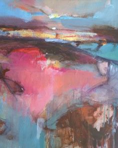 Magdalena Morey   Interlude 1   Abstract Landscape Painting   WychwoodArt