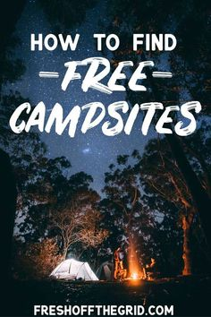 Find out how you can find free campsites in beautiful locations throughout the US and Canada in this free camping guide. Camping tips | Camping ideas