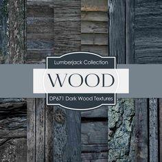 Dark Wood Textures Digital Paper DP671
