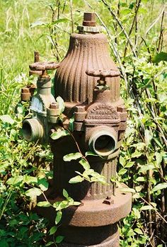 Before we go inside, here's an old fire hydrant.
