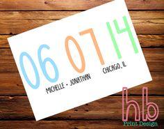 Printable Minimalist Save the Date