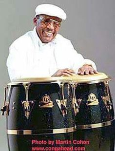 """Cuban percussionist Jose Luis Quintana """"Changuito"""", creator and developer of """"La Mano Secreta"""". Latino Artists, R&b Artists, All Star, Afro Cuban, Puerto Rican Culture, Drum Lessons, How To Play Drums, Latin Music, Drum Kits"""