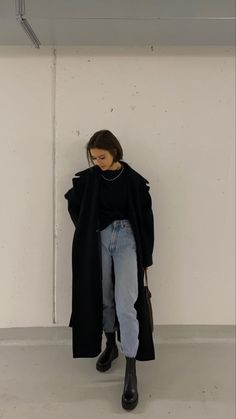 Retro Outfits, Mode Outfits, Cute Casual Outfits, Stylish Outfits, Winter Fashion Outfits, Look Fashion, Korean Fashion, Winter Outfits, Looks Dark
