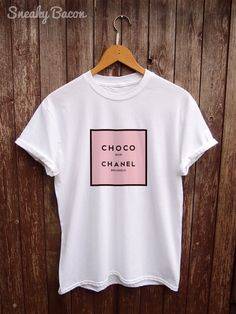 b9754f05 Parody Chanel T shirt funny t-shirts a womens by SneakyBaconTees Pizza Shirt,  Coffee