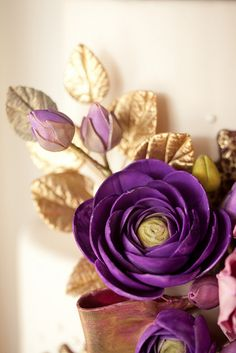 Purple ranunculus by Wild Orchid Baking Co., via Flickr