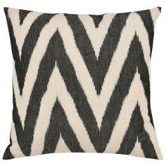 Chevron Charcoal Pillow