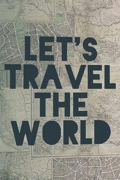 'Travel The World' Canvas