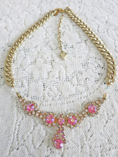 Sweetheart Necklace by Vintage Bling