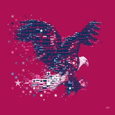 An American Eagle for NIKE Soccer. A mosaic eagle for Nike and the U.S.Soccer Women National Team in Germany 2011 FIFA World Cup.