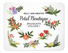 Petal Boutique Bouquet Clip Art Vol. 2 - Blog Graphics - Instant Download - Graphics perfect for Scrapbooking or Embellishing your Blog https://www.etsy.com/listing/189575189
