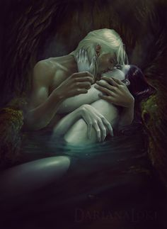 Dinan and Seoc The cold from the lake was barely noticable as his warmth seeped into her body. The pain was going away. He always made it go away. Leaning towards him, she didnt even care that he'd uncovered her. He was strength and warmth and she wanted more.