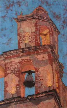 """""""San Miguel Evening Bell"""" batik painting by David Lucht"""