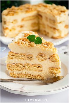 Ciasto napoleon bez pieczenia - I Love Bake Fruit Recipes, Apple Recipes, Gourmet Recipes, Cake Recipes, Snack Recipes, Dessert Recipes, Cooking Recipes, Napoleons Recipe, Dessert For Dinner