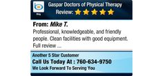 Professional, knowledgeable, and friendly people. Clean facilities with good equipment....