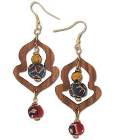 SoulFlower-NEW! Naria Wood Earrings-$14.00