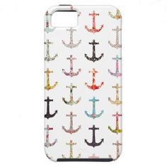 Vintage retro sailor girly floral nautical anchors iPhone 5 cover
