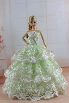 Fashion Princess Party Dress Evening Clothes Gown for Barbie Doll S313P | eBay