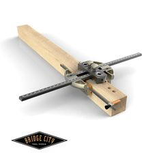 The DJ-2 Drilling Jig was born out of requests from current DJ-1 Drilling Jig owners seeking a faster way to drill off center holes. Whereas the DJ-1 has zero backlash self-centering capabilities, off center holes are only achieved by shimming one side of the jig. #woodworking #drilling #bridgecitytools