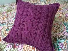 2 almohadones tejidos dos agujas o crochet arma tu combo
