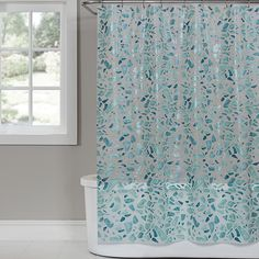 A collage of abstract sea glass shapes and soft ocean colors give the Saturday Knight Sea Glass PEVA Shower Curtain its uniquely beachy appeal. Ideal for ocean-themed bath decors, this shower curtain is made of durable chlorine-free frost PEVA. Bathroom Red, Beach Bathrooms, Bathroom Plants, Glass Bathroom, Glass Shower, Beachy Bathroom Ideas, Unusual Bathrooms, Ocean Bathroom, Condo Bathroom