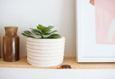 A Pair & A Spare | DIY Rope Planter