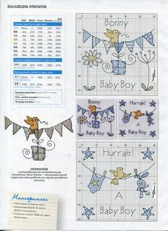 baby chart - I've already made the girl one, now I'm all set if somebody has a boy. Thanks!