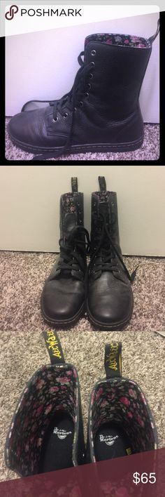 Dr. Martens 9 Hole Leather Sneaker Boots Good as new! Only worn once. Size 10, very comfortable. Dr. Martens Shoes Combat & Moto Boots