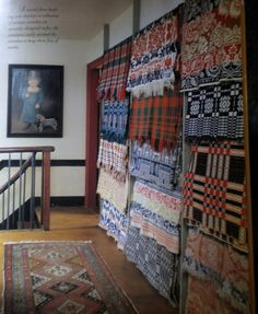 What a fantastic way to display textiles.