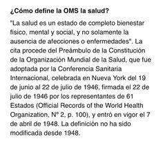 Definición #Salud #Autocuidado #OMS #WHO