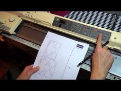 Brother Electronic Knitting Machine KH 900 (demonstration how to program patter in to the machine) - YouTube