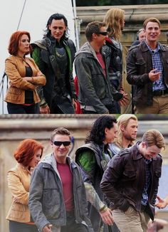 "Its almost like Steve made a really funny joke that only he and Hawkeye get and the others are just sort of smiling because Steve is laughing so hard, and then Thor is just like ""Whatever guys"""