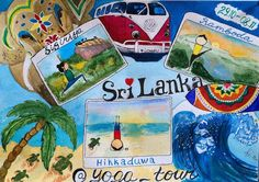 Йога тур на Шри Ланку 29 октября - 8 ноября 2015  #watercolor #tripmap #srilanka