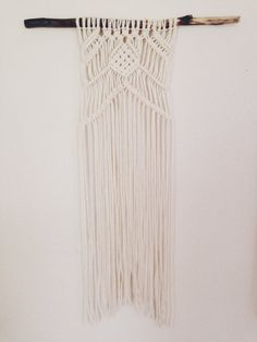 Hey, I found this really awesome Etsy listing at https://www.etsy.com/listing/199563135/small-macrame-wall-hanging-on-branch